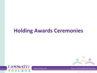 Holding Awards Ceremonies