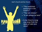 God s Church and Our Church