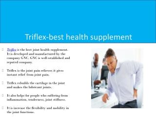 Triflex-best health supplement