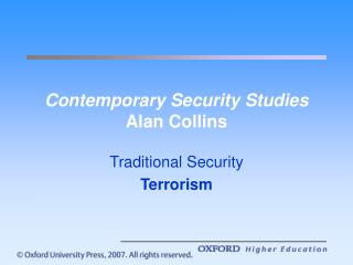 Contemporary Security Studies Alan Collins
