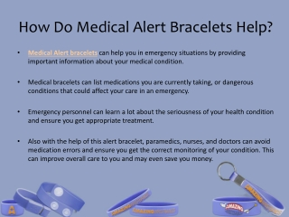 How Do Medical Alert Bracelets Help