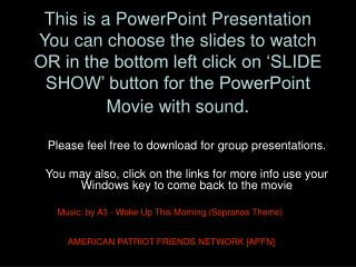 This is a PowerPoint Presentation You can choose the slides to watch  OR in the bottom left click on 'SLIDE SHOW' button