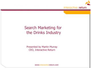 Search Marketing for the Drinks Industry