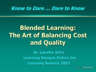 Blended Learning: The Art of Balancing Cost and Quality
