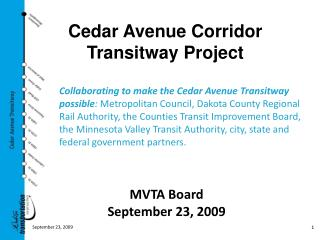 Cedar Avenue Corridor Transitway Project