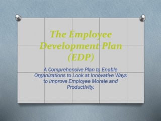 The Employee Development Plan (EDP