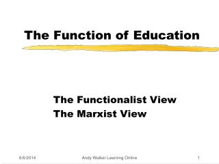 The Function of Education