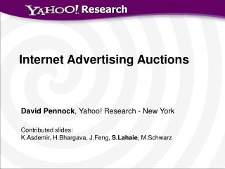 Internet Advertising Auctions