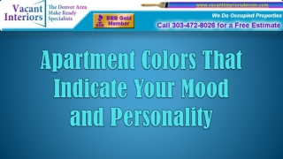 Apartment Colors That Indicate Your Mood 