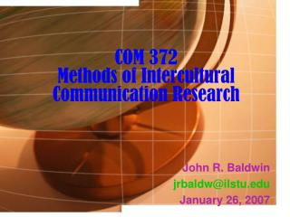 COM 372 Methods of Intercultural Communication Research