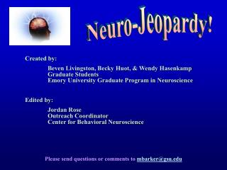 Neuroscience Jeopardy