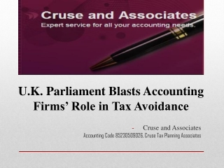 cruse tax planning associates | Bx.Businessweek