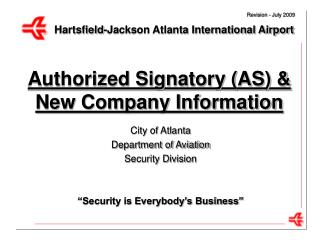 Authorized Signatory (AS) & New Company Information