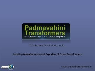Power Transformer Manufacturer & Supplier