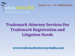 Trademark Attorney Services For Trademark Registration
