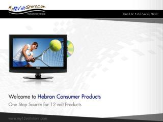 12 volt tv - hebron consumer products