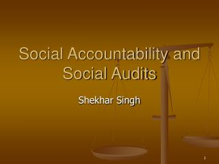 Social Accountability and Social Audits
