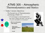 ATMS 305