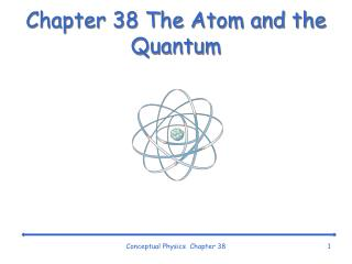 Chapter 38 The Atom and the Quantum
