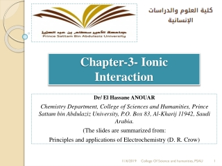 Chapter-3- Ionic Interaction