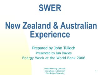 What SWER Stands for