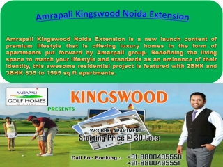 Amrapali Kingswood Noida Extension Residential Project Launc