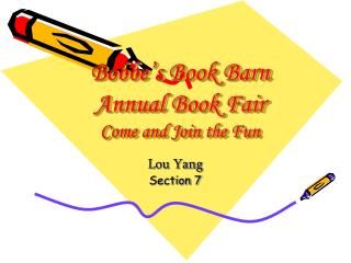 Bobbe s Book Barn Annual Book Fair Come and Join the Fun