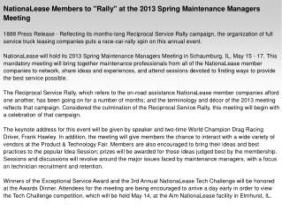 "NationaLease Members to ""Rally"" at the 2013 Spring"