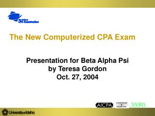 The New Computerized CPA Exam