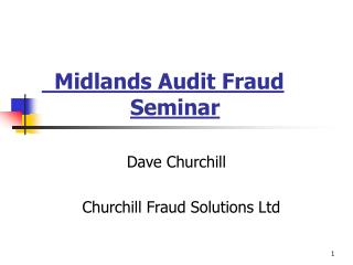 Midlands Audit Fraud      Seminar
