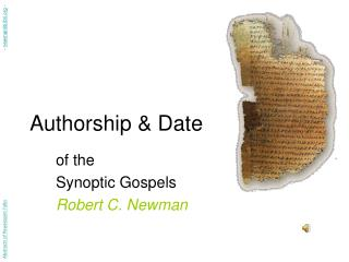 Authorship & Date