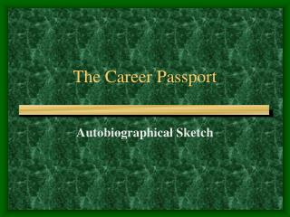 The Career Passport