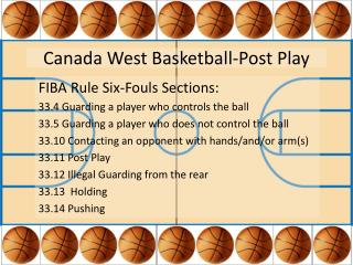 Canada West Basketball-Post Play
