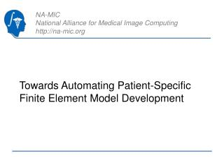Towards Automating Patient-Specific Finite Element Model Development