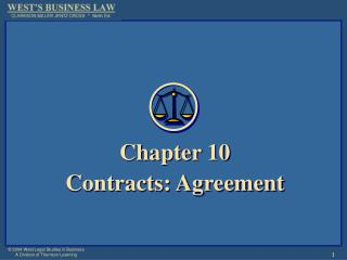 Chapter 10 Contracts: Agreement