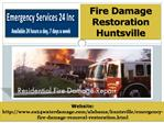 Fire Damage Restoration Huntsville