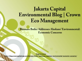 Jakarta Capital Environmental Blog | Crown Eco Management