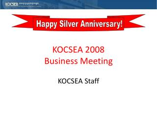 KOCSEA 2008 Business Meeting