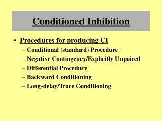 Conditioned Inhibition