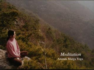 Meditation Ananda Marga Yoga