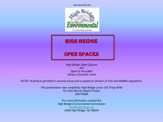 HIGH BRIDGE OPEN SPACES