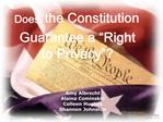 does the constitution guarantee a