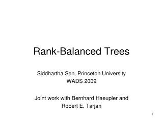 Rank-Balanced Trees