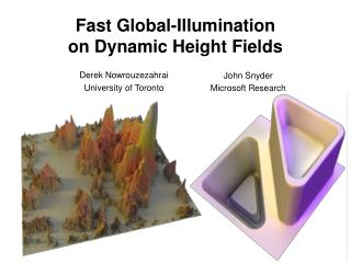 Fast Global-Illumination on Dynamic Height Fields