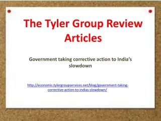 The Tyler Group Review Articles