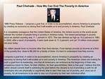 Paul Chehade - How We Can End The Poverty In America