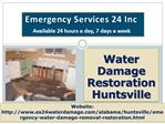 Water Damage Restoration Huntsville