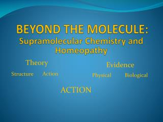 BEYOND THE MOLECULE: