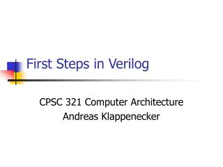 First Steps in Verilog