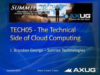 TECH05 - The Technical Side of Cloud Computing